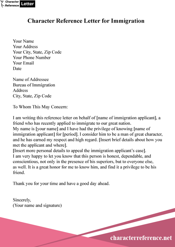 Character Reference Letter For Family Member For Court
