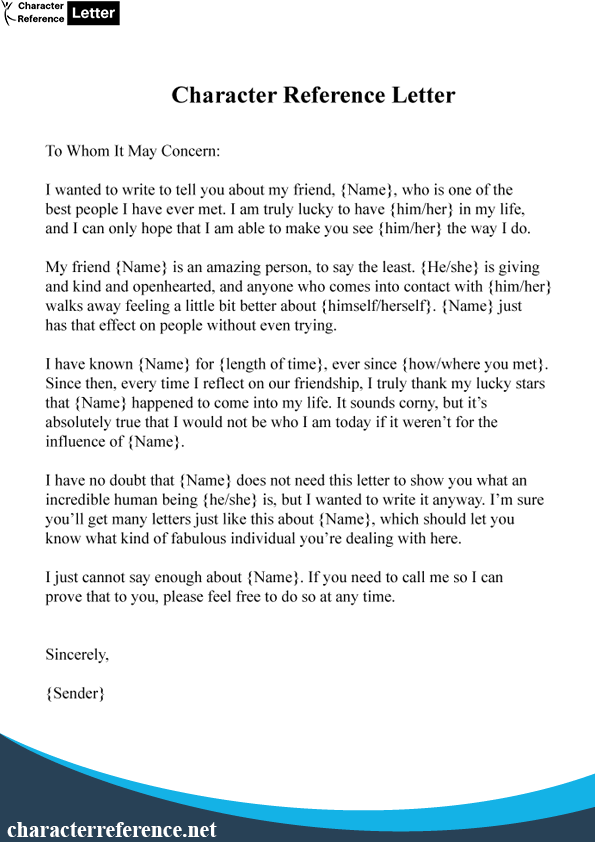 Character Reference Letter For Court Sentencing